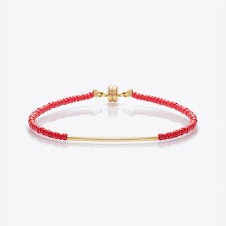 Beaded Friendship Bracelet in Red