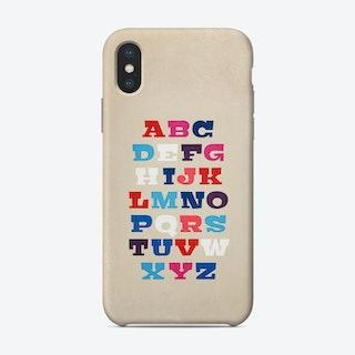 Alphabet Phone Case
