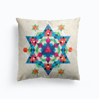 Bohemian Kilim Diamond Cushion