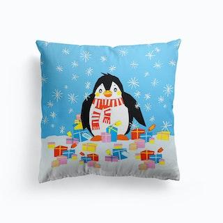 Christmas Penguin Cushion