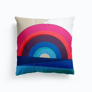 Rainbow And Sea Cushion