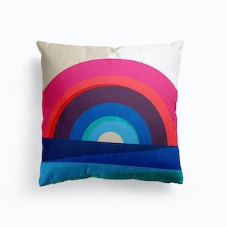 Rainbow And Sea Cushion