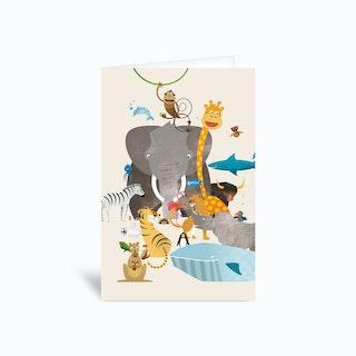 Animals Greetings Card