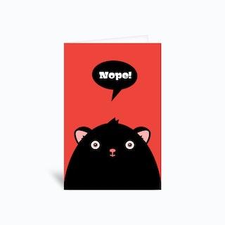 Nope Greetings Card