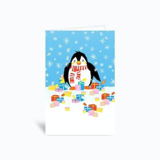 Christmas Penguin Greetings Card