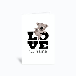 Love Koalas Greetings Card