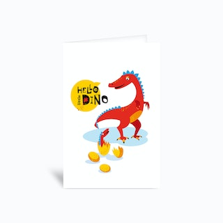 Hello Little Dino Baby Greetings Card