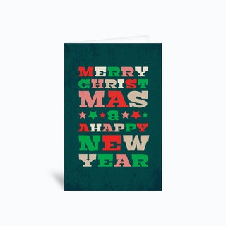 Merry Christmas New Year Greetings Card