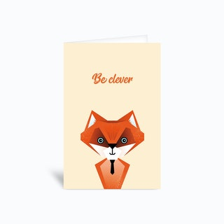 Be Clever Fox Greetings Card
