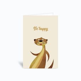 Be Happy Otter Greetings Card
