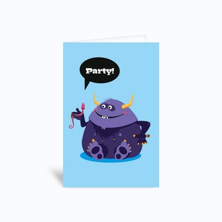 Kids Party Invitation Greetings Card