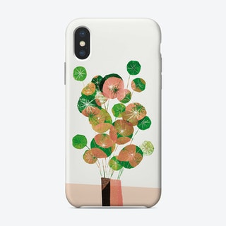Pilea In Green And Coral Phone Case