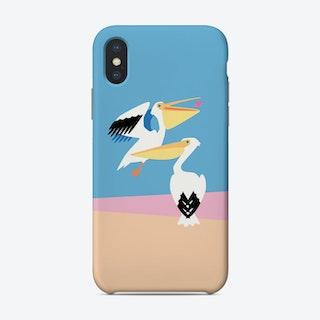 Pastel Pelicans Phone Case
