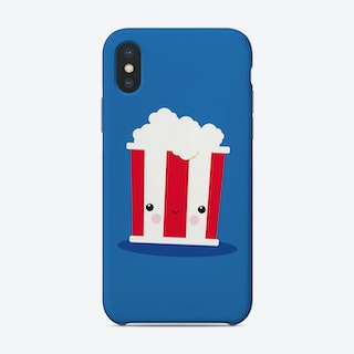 Chill Out Kawaii Popcorn Phone Case