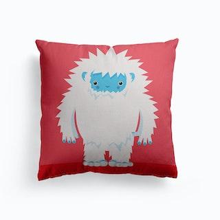 Big Hugs Kawaii Yeti Canvas Cushion