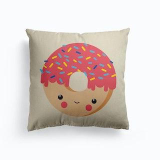 Nursery Kawaii Donut Canvas Cushion