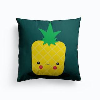 Stay Well Kawaii Ananas Canvas Cushion