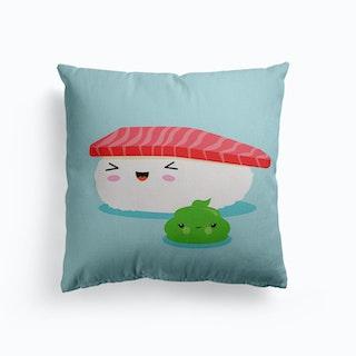 Best Friends Kawaii Sushi Nigiri Canvas Cushion