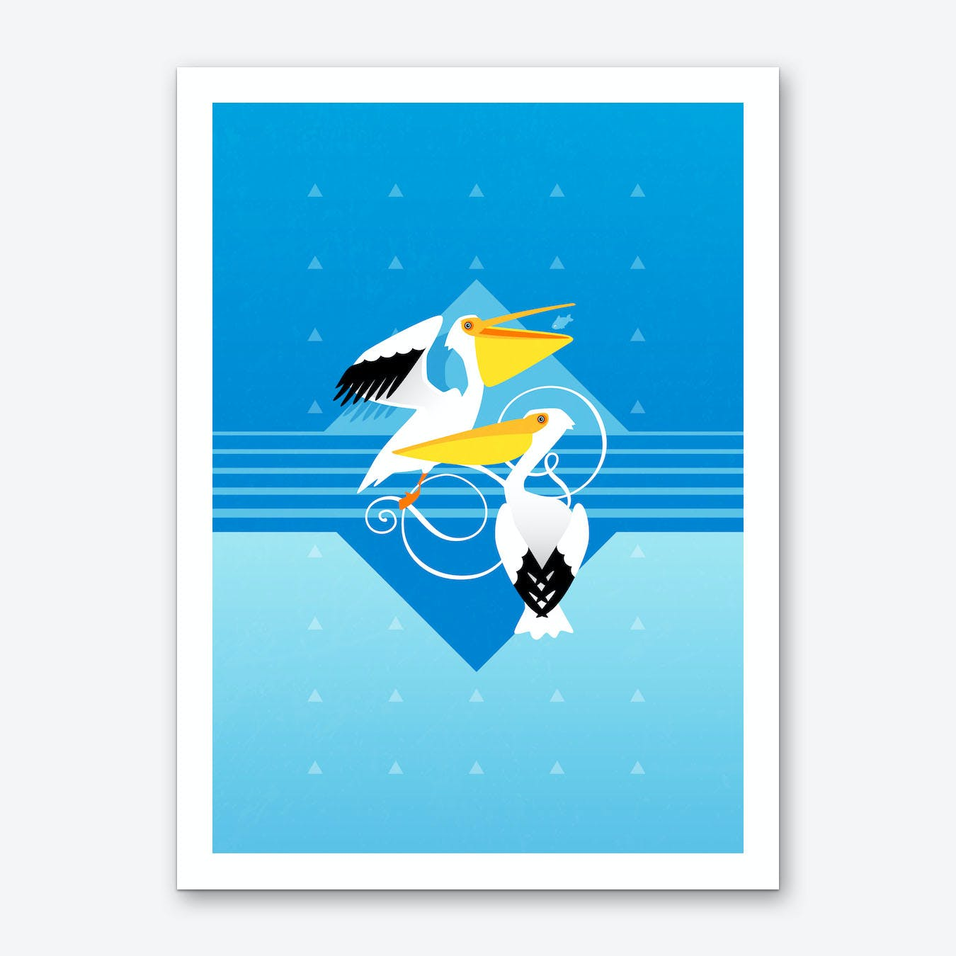 Pretty Pelicans Art Print