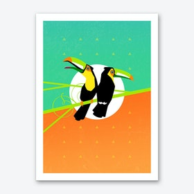 Tropical Toucans Art Print
