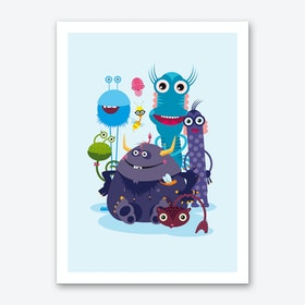 Monster Crew Art Print