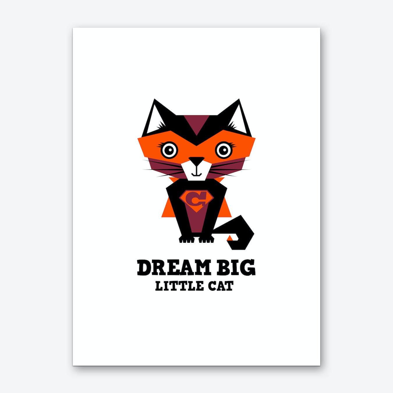 Dream Big Cat I Art Print