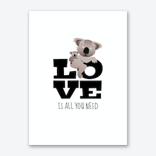 Love Koalas Art Print
