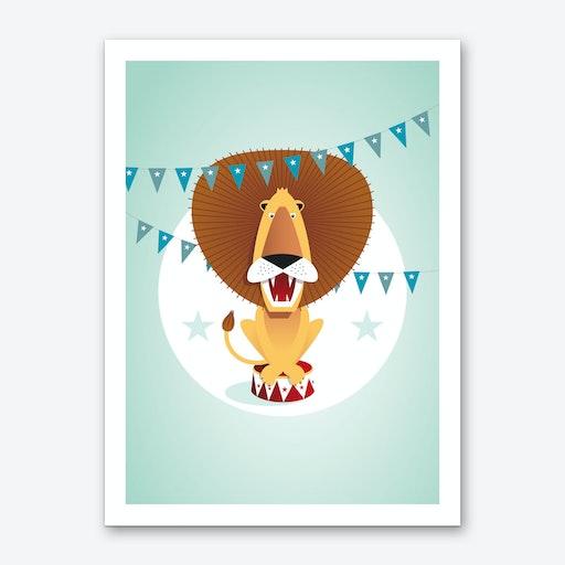 Circus Lion Art Print