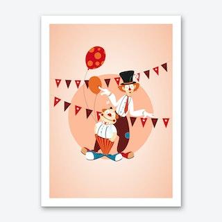 Circus Clowns Art Print