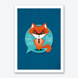 Stay Clever Fox Art Print