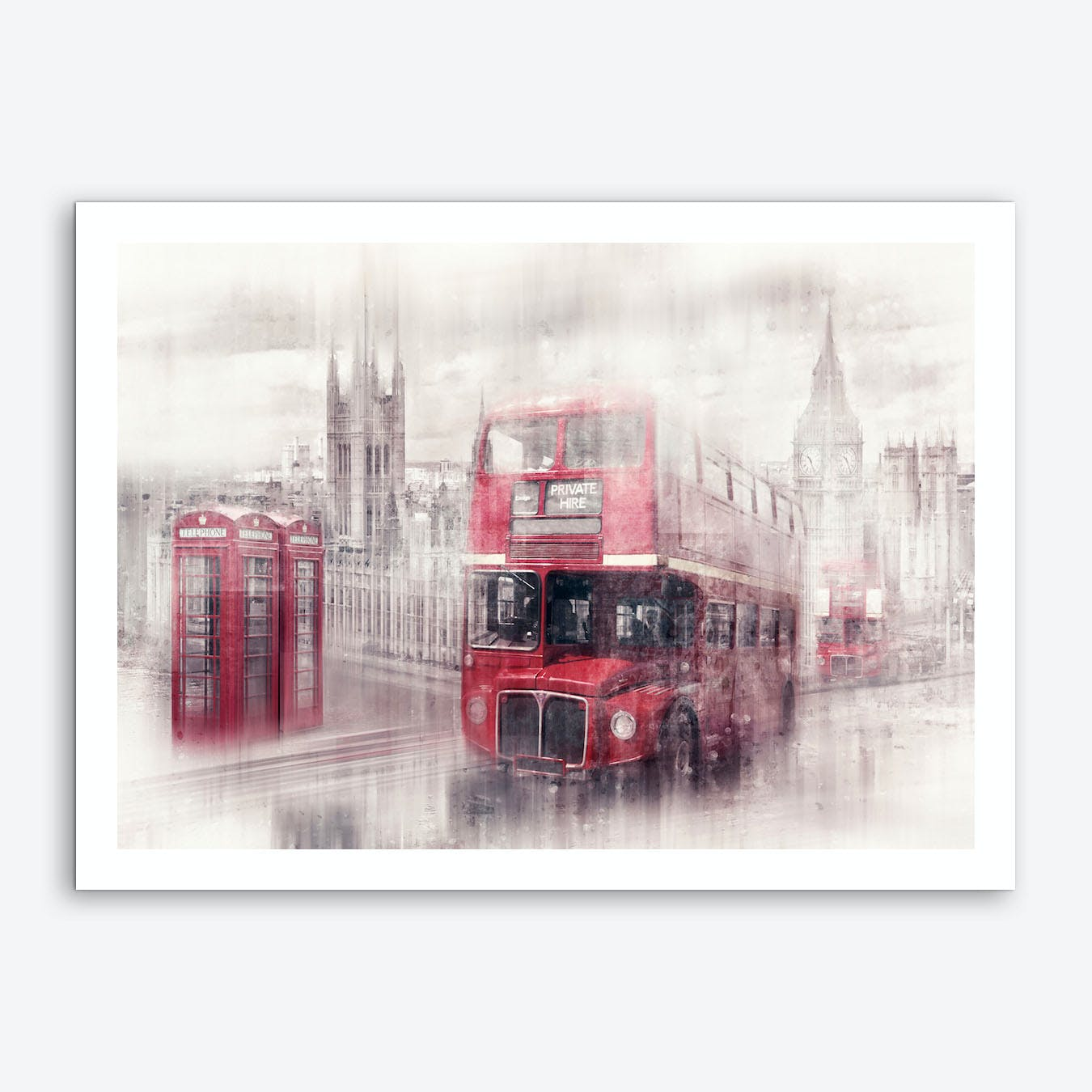 City Art London Westminster Collage Art Print
