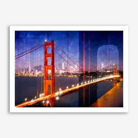 City Art Golden Gate Bridge Composing Art Print