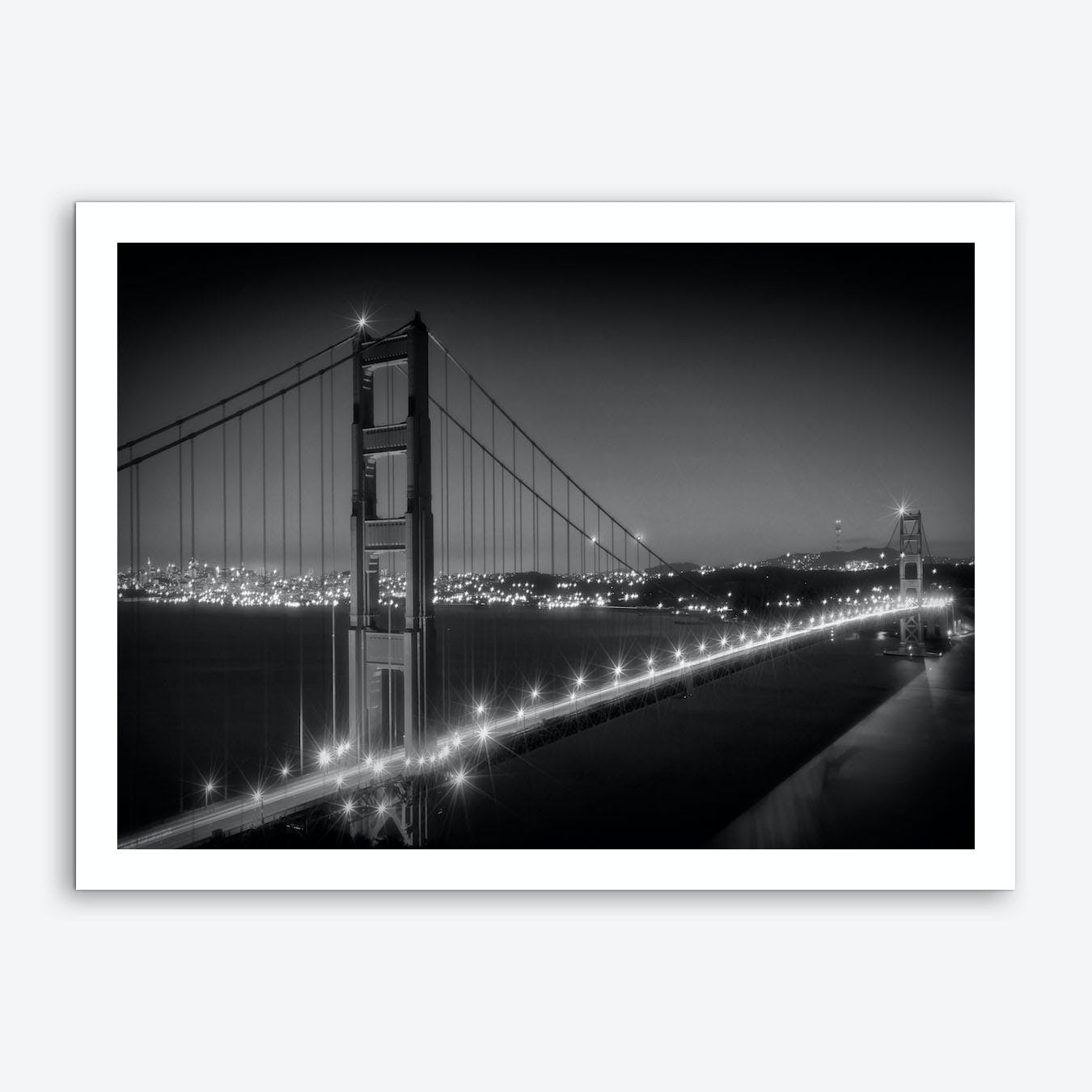 Evening Cityscape of Golden Gate Bridge Art Print