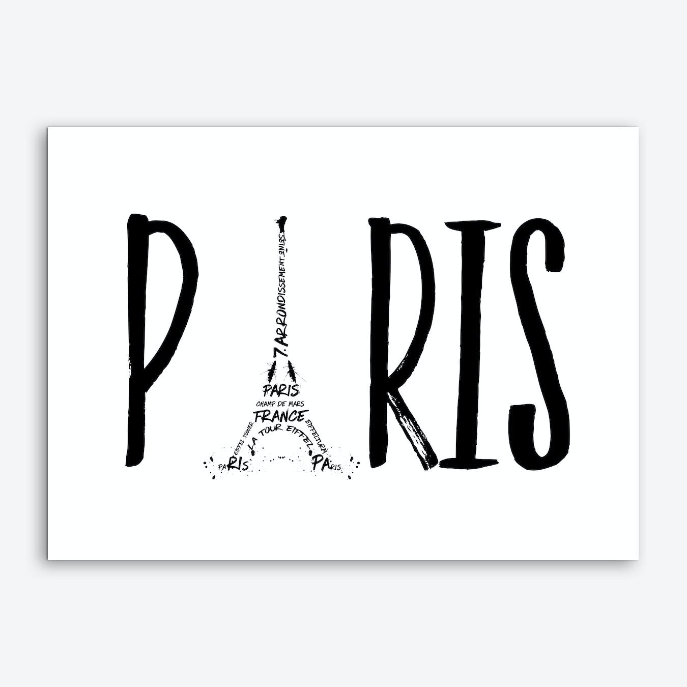 Paris Typography Art Print
