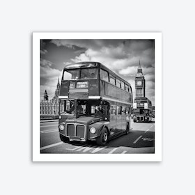 London Classical Streetscene Art Print