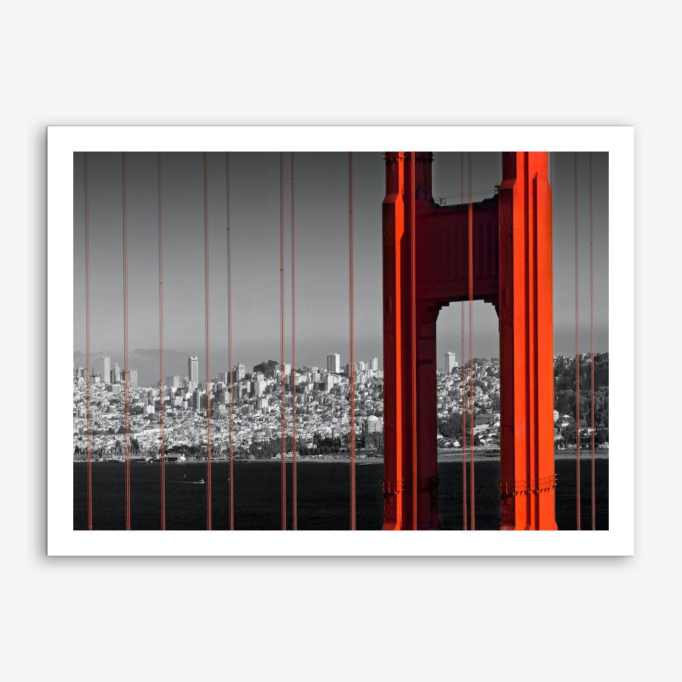 Golden Gate Bridge in Detail Art Print