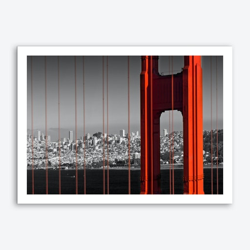 Golden Gate Bridge in Detail Art Print
