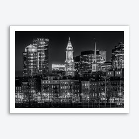 Boston Evening Skyline  Art Print