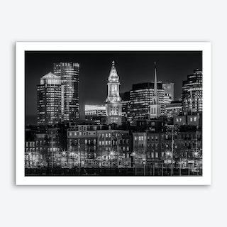 Boston Evening Skyline  Art Print