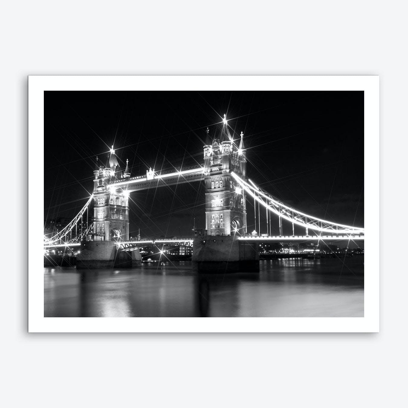 London Tower Bridge at Night Art Print