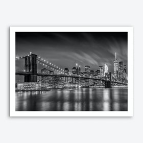 Brooklyn Bridge Nightly Impressions Art Print