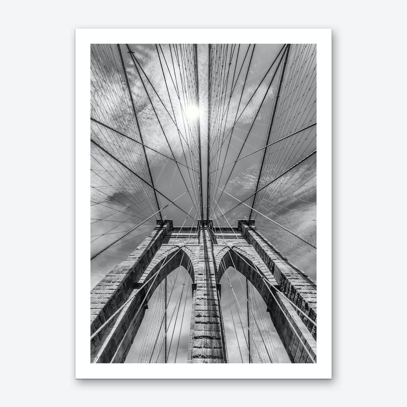 New York City Brooklyn Bridge in Detail Art Print