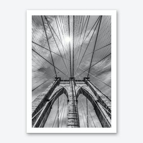 New York City Brooklyn Bridge in Detail Art Print