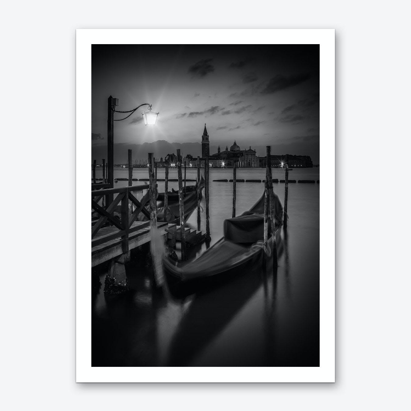 Venice Gondolas During Sunrise Art Print