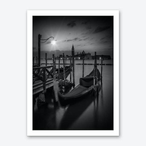 Venice Gondolas During Sunrise Art Print