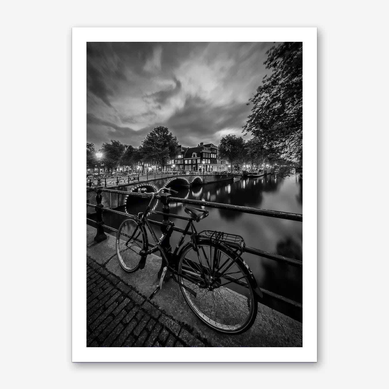 Amsterdam Evening impression from Brouwersgracht Art Print