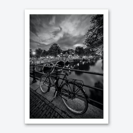 Amsterdam Evening impression from Brouwersgracht Art Print