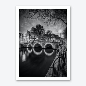Amsterdam Idyllic nightscape from Keizersgracht Art Print