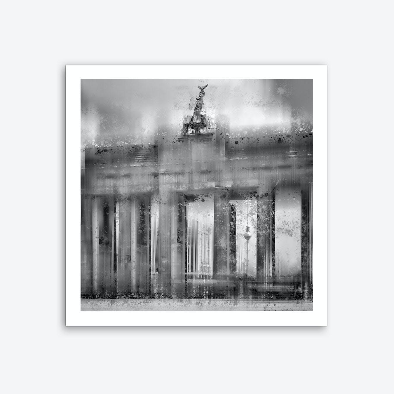 City Art Berlin Brandenburg Gate Art Print