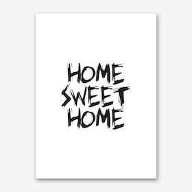 Home Sweet Home (White) Art Print